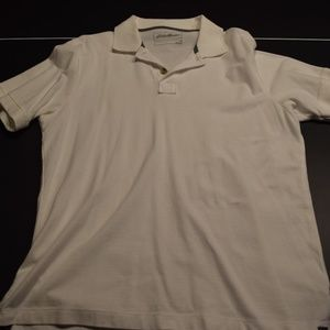 Men's M White Eddie Bauer Polo Shirt